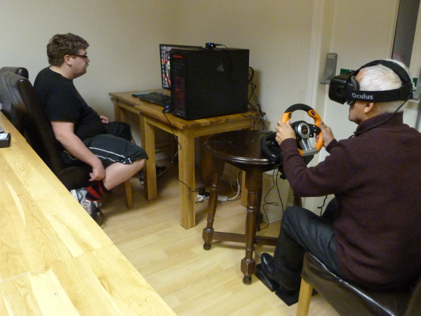 NTU Student Monitors SG1 Group Member Under Test