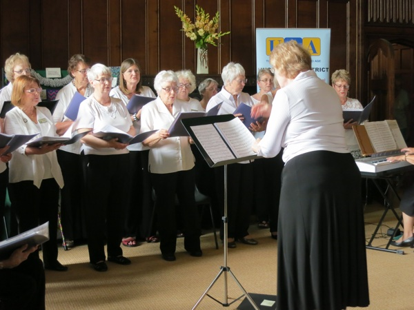 Choir singing at Newstead Abbey